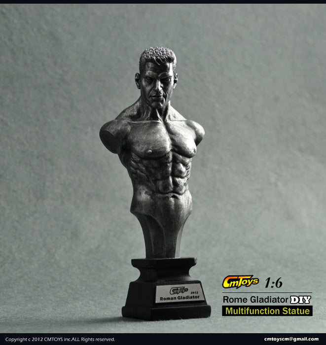1/6 SILVER COLOR CH-ROME GLADIATOR DIY MULTIFUNCTION STATUE