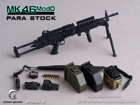 1/6 BLACK MK46MOD0 WITH PARA STOCK