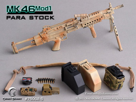 1/6 CAMOUFLAGE MK46MOD1 WITH PARA STOCK
