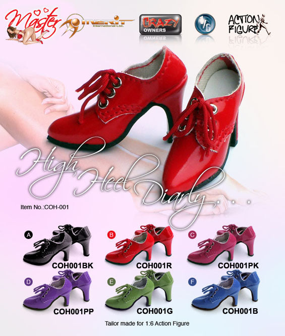 1/6 FEMALE HIGH HEEL SHOES (BLUE)