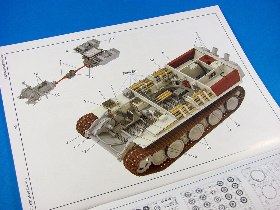 1/35 PANTHER AUSF.G WITH FULL INTERIOR RYEFIELD MODEL 5019