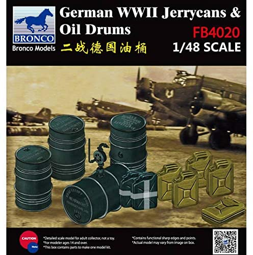 1/48 Zubehrö WWII German Jerry Cans and Fuel Drums By BRONCO MODELS