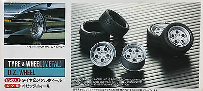 1/24 OZ TYPE RACING WHEEL & TIRE SET (METAL)