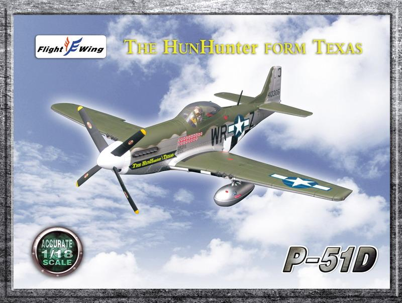 "1/18 WWII USAF 355th FIGHTER GROUP ""THE HUN HUNTER FM TEXAS"""