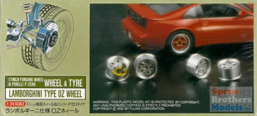 1/24 LAMBORGHINI OZ TYPE RACING WHEEL & TIRE SET (METAL)