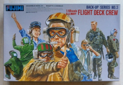 1/48 U.S. NAVY FLIGHT DECK CREW - Back Up Series No. 3 (FUJIMI)
