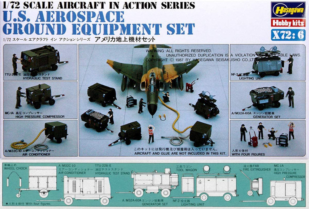 1/72 U.S. AEROSPACE GROUND EQUIPMENT SET by HASEAGWAS