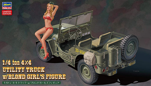 1/24 1/4 TON 4x4 UTILITY TRUCK WITH BLOND USO GIRL'S FIGURE