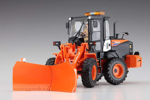 1/35 HITACHI WHEEL LOADER ZW100-6 MULTIPLOW (SNOWPLOW) WORKING MACHINE by HASEGAWA