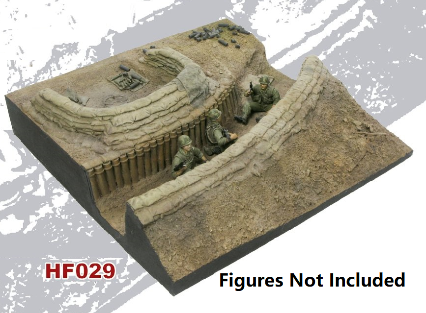 1/35 Fire Base Diorama Base - Complete set of 4 Bases - by Hobby Fan
