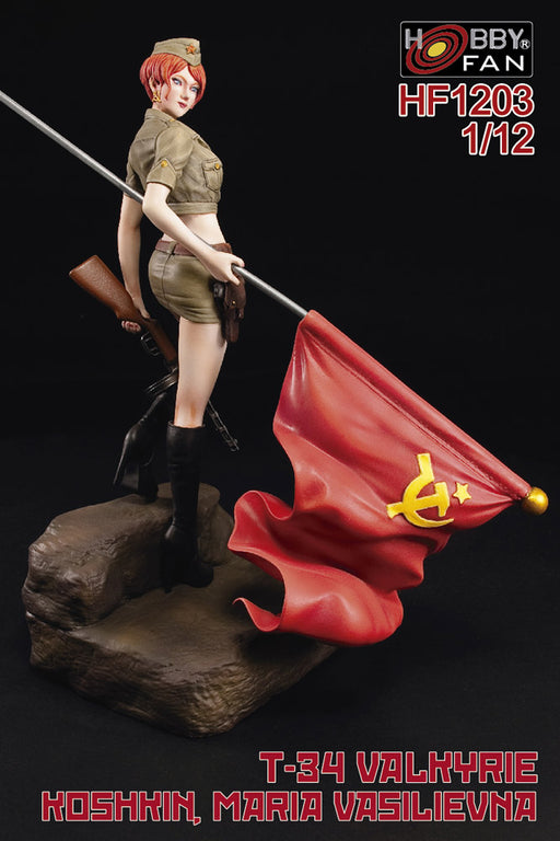 1/12 T-34 VALKYRIE KOSHKIN, MARIA VASILIEVNA HOBBY FAN RESIN FEMALE FIGURINE