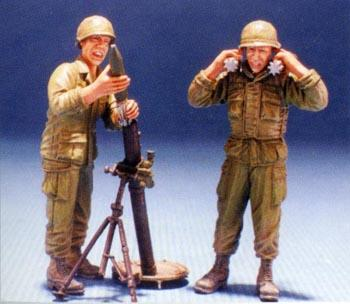 1/35 US M29 84mm MORTAR W/CREW 2FIGS