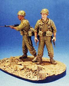 1/35 1st CAVALRY 1965 LZ-RAY-2FIGSW/BASE