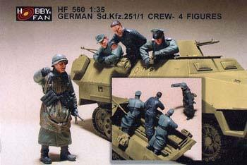 GERMAN SD.KFZ.251/1 CREW - 4FIGURES