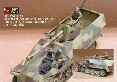 GERMAN SD.KFZ 251 CREW SET (DRIVER & 7.5CM G)