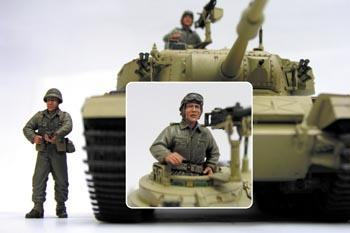 1/35 IDF CENTURION MK.5 CREWS (6 DAYS WAR)-2 FIGURES