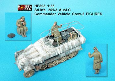 1/35 SD.KFZ. 251/3 AUSF.C GOMMANDER VEHICLE CREW-2 FIGURES