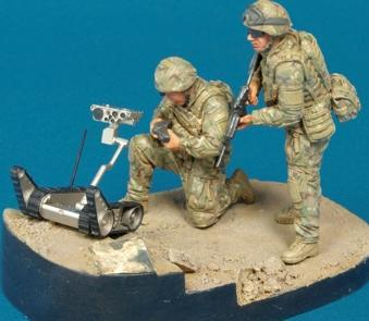 "1/35 RANGER RECONNAISSANCE TEAM ""OIF"" ISAF-2 RIG W/ROBOTS"