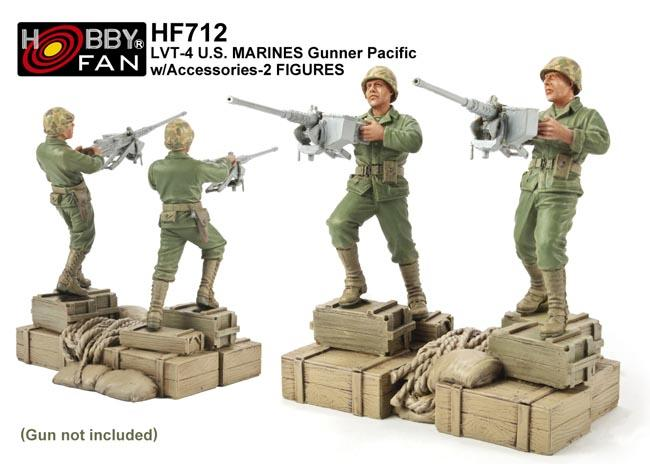 1/35 LVT-4 U.S. MARINES GUNNER PACIFIC W/ACCESSORIES-2 FIGU