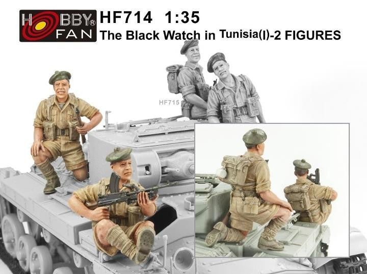 1/35 THE B1/6 LACK WATCH IN TUSISIA (1) -2 FIGURES