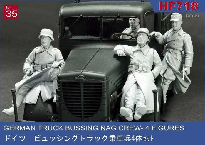 1/35 GERMAN TRUCK BUSSING NAG CREW - 4 FIGURES