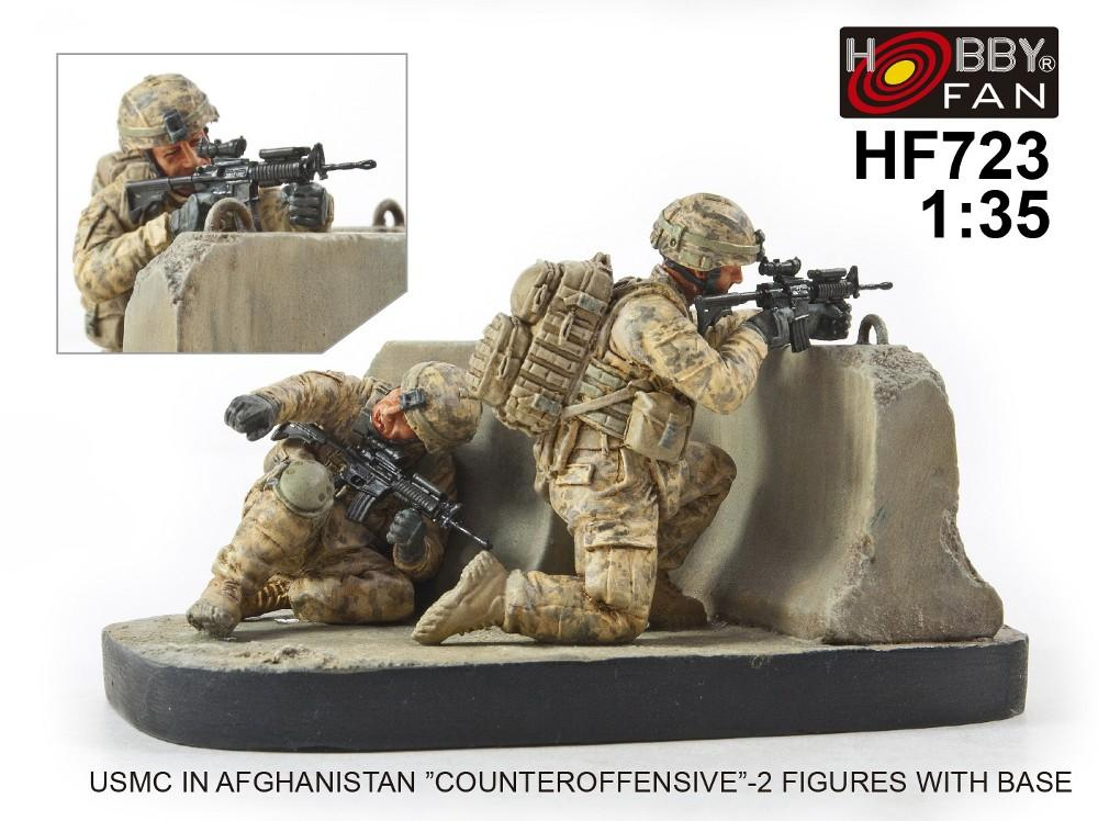 "1/35 USMC IN AFGHANISTAN ""COUNTEROFFENSIVE"" 2 FIGS W/BASE"