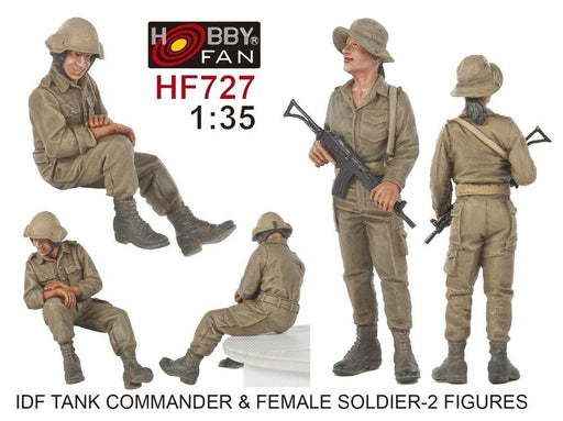1/35 IDF TANK COMMANDER & FEMALE SOLDIER - 2 FIGURES