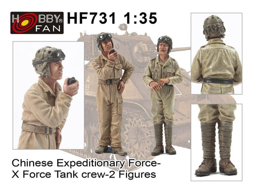 "1/35 CHINESE EXPEDITIONARY FORCE ""X-FORCE"" TANK CREW-2 FIGUR"