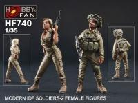 1/35 IDF SOLDIERS (2 FEMALE FIGURES)