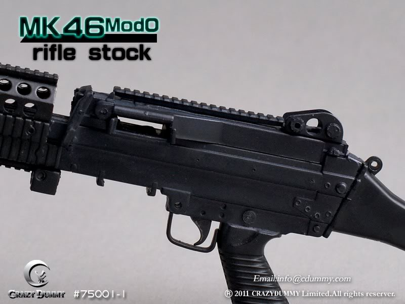 1/6 BLACK MK46MOD0 WITH RIFLE STOCK