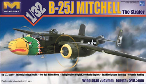 1/32 B-25J MITCHELL 'STRAFER'-CRYSTAL VERSION W/BONUS PARTS