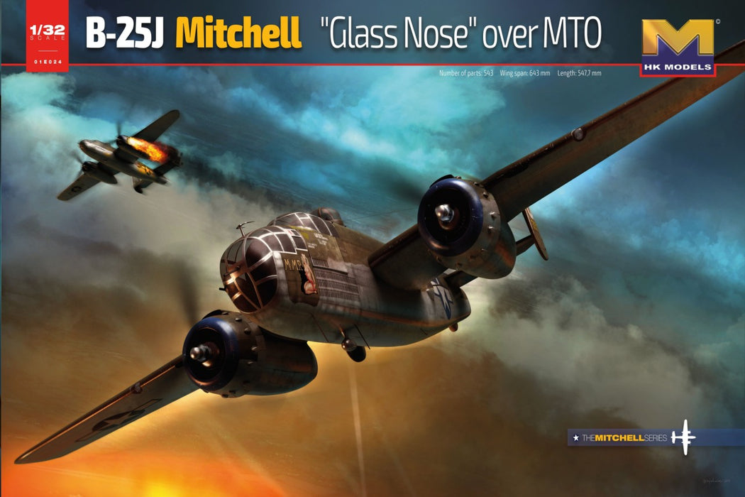 1/32 B-25J Glass Nose Over MTO