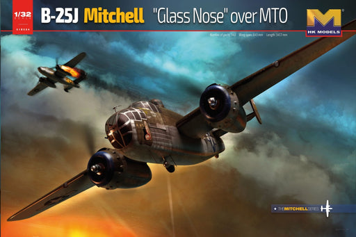 1/32 B-25J Mitchell Glass Nose Over MTO by HONG KONG MODELS