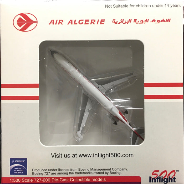 1/500 AIR ALGERIE AIRLINES BOEING 727-200 REG: 7T VEH by WITTY WING (INFLIGHT 500)