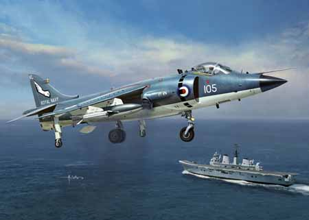 1/48 Royal Navy Sea Harrier FRS1 KINETIC K48035