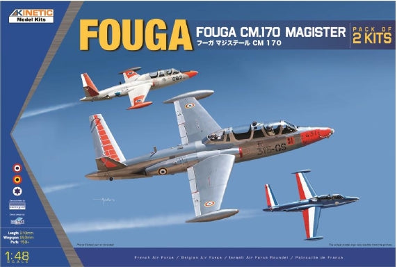 1/48 Fouga CM.170 Magister (pack of 2 kits) KINETIC K48051