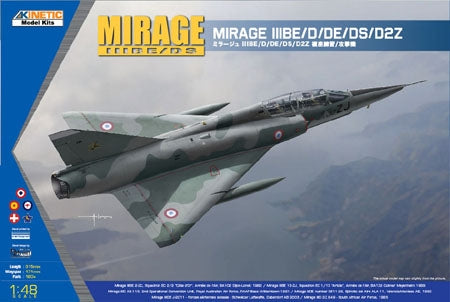 1/48 Mirage III BE/D/DE/DS/D2Z KINETIC K48054
