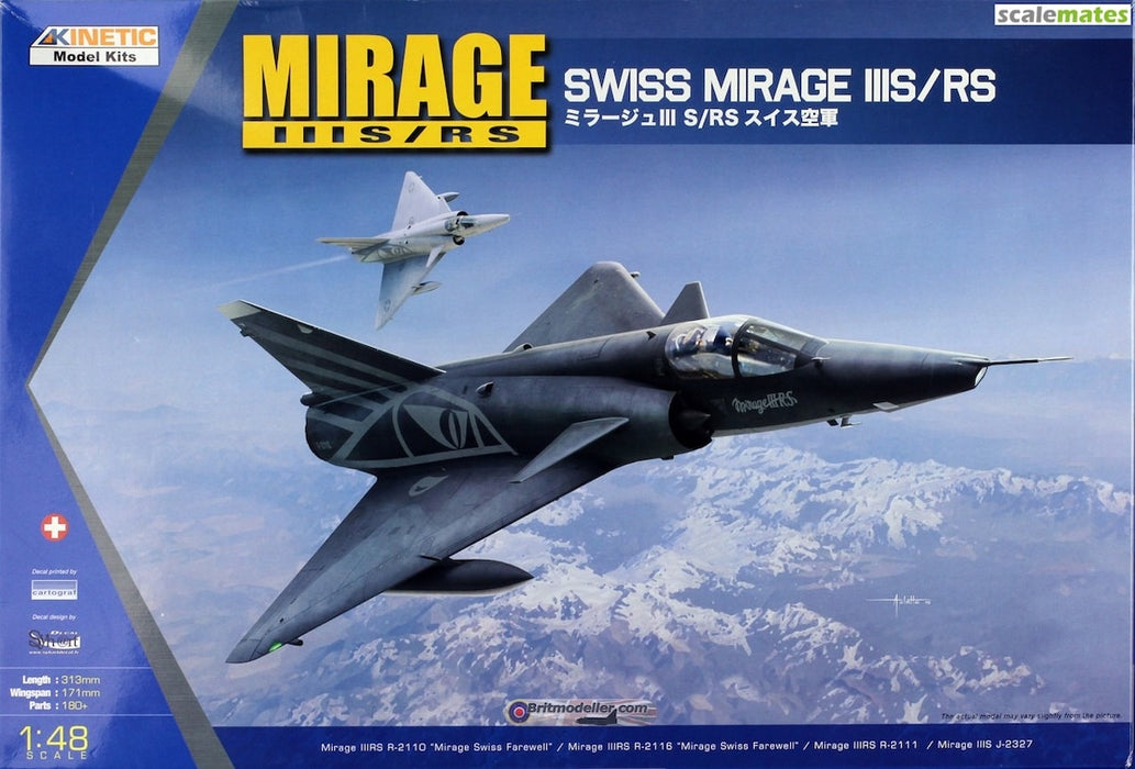 1/48 MIRAGE IIIS/RS KINETIC K48058
