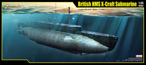 1/35 BRITISH HMS X-CRAFT SUBMARINE BY MERIT INTERNATIONAL