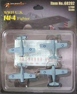 "1/200 BF4F-4 - 4 ""BUILT & PAINTED"" PLANES BLISTER CARD SET"