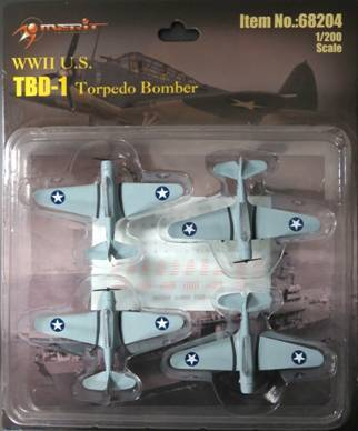 "1/200 TBD-1 - 4 ""BUILT & PAINTED"" PLANES BLISTER CARD SET"