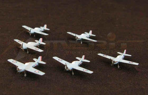 1/350 WWII U.S. F4F-4 FIGHTER PLANE (SET OF 6)