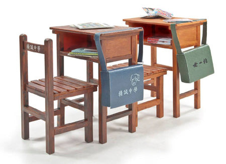 1/12 HIGH SCHOOL SINGLE SEAT DESKS WITH CHAIRS