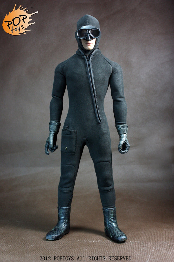 1/6 COMBAT SWIMMER WET SUIT ((WATER MONSTER JUMPSUIT)