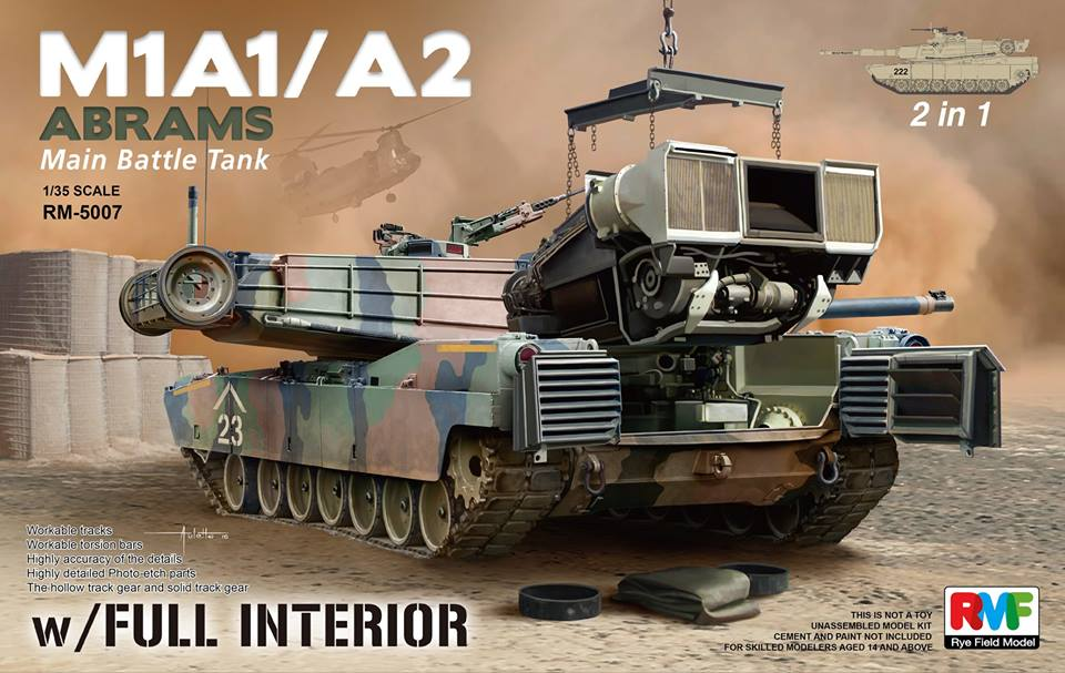 1/35 M1A1 ABRAMS W/FULL INTERIOR 2 IN 1 (RYM FIELD MODE