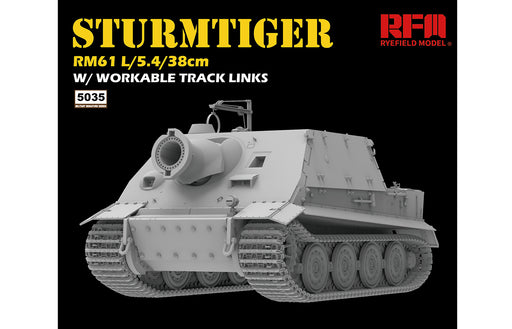 1/35 STURMTIGER W/WORKABLE TRACK LINKS RYEFIELD 5035