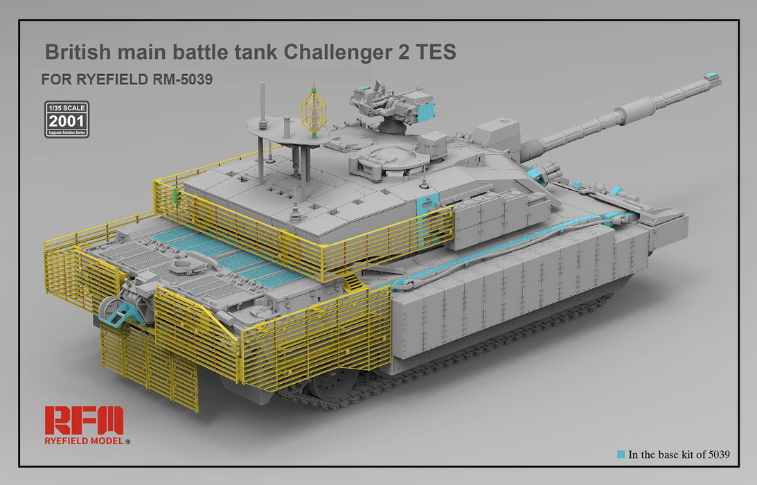 RFM-RM2001 The Upgrade Solution for 1/35 British Main Battle Tank Challenger 2 TES
