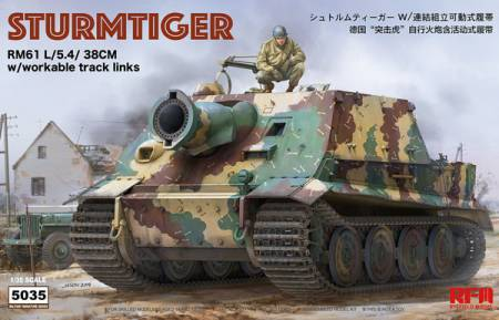1/35 STURMTIGER W/WORKABLE TRACK LINKS RYEFIELD
