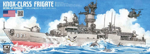 1/700 US NAVY KNOX-CLASS FRIGATE DETAIL UPGRADED VERSION WITH DIORAMA BASE - AFV CLUB