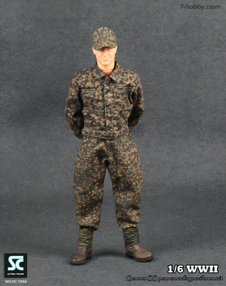 1/6 WWII GERMAN SS PEAS CAMOUFLAGE UNIFORMS SUIT